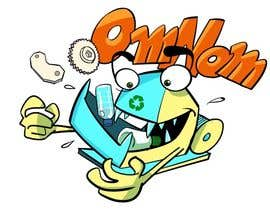artinearth tarafından Looking for an illustrative or cartoonish style logo For the name OmNom. için no 9