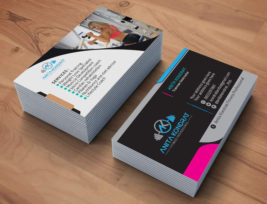 Entry #155 by Ashik0682 for Design my fitness business card | Freelancer