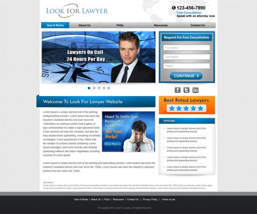 Конкурсная заявка №40 для Website Design for LookforLawyer.com