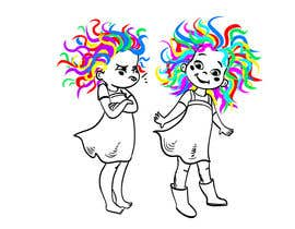 #196 for Draw Dr.Suess/Sketch type of drawing of real person with neon rainbow hair by juliakushnareva