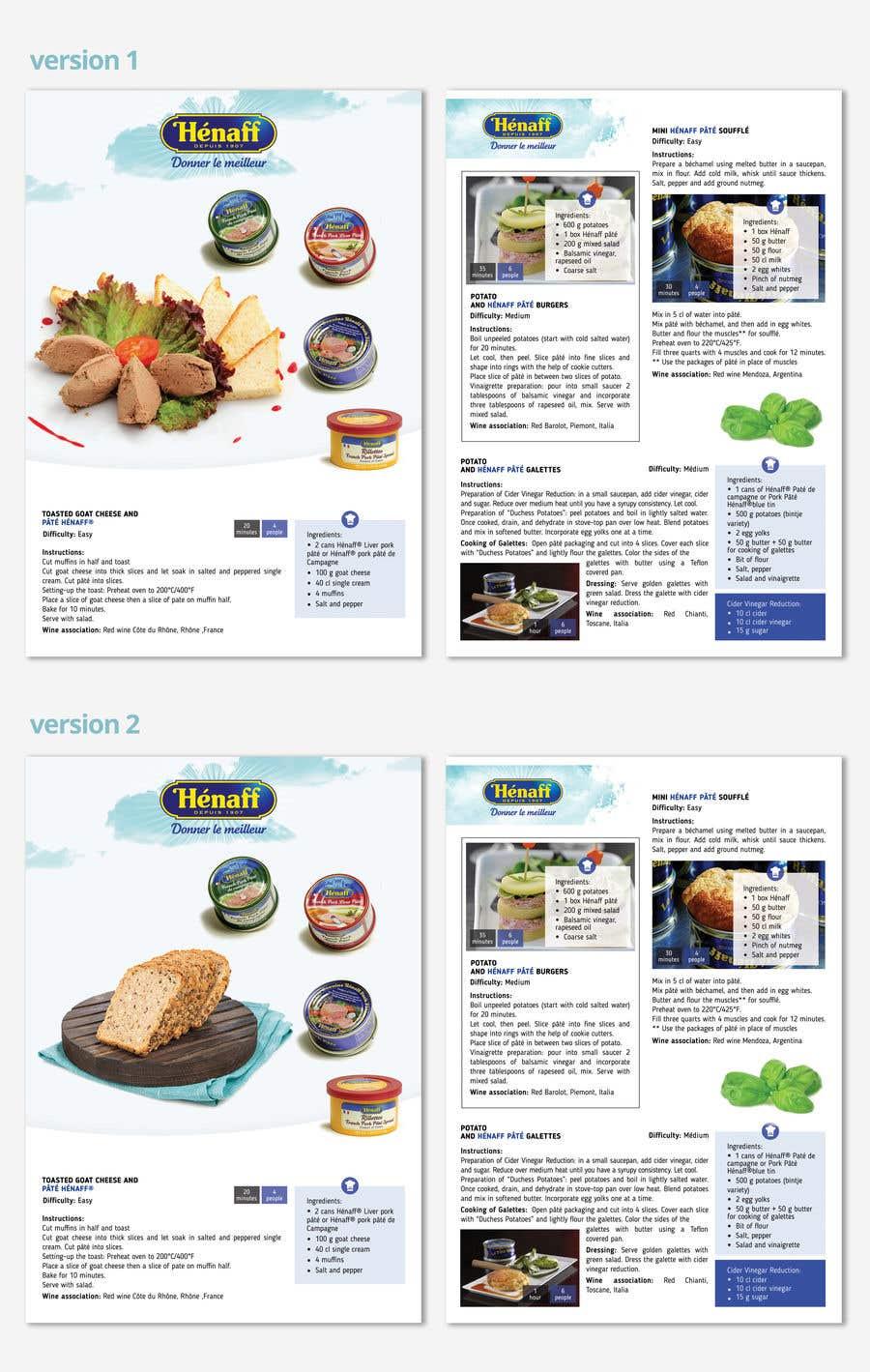 Entry #48 by AnastasiaVlasiuk for Design a Brochure - food