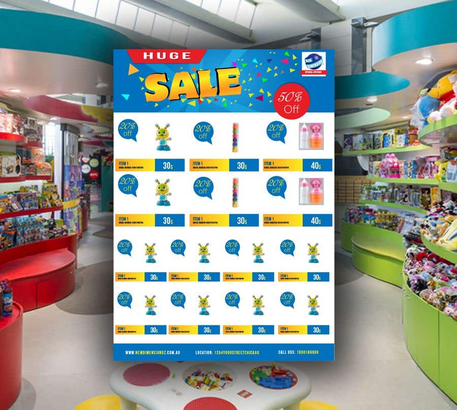 Entry 34 By Dusanmosic For Sales Flyer Template Childrens Toys