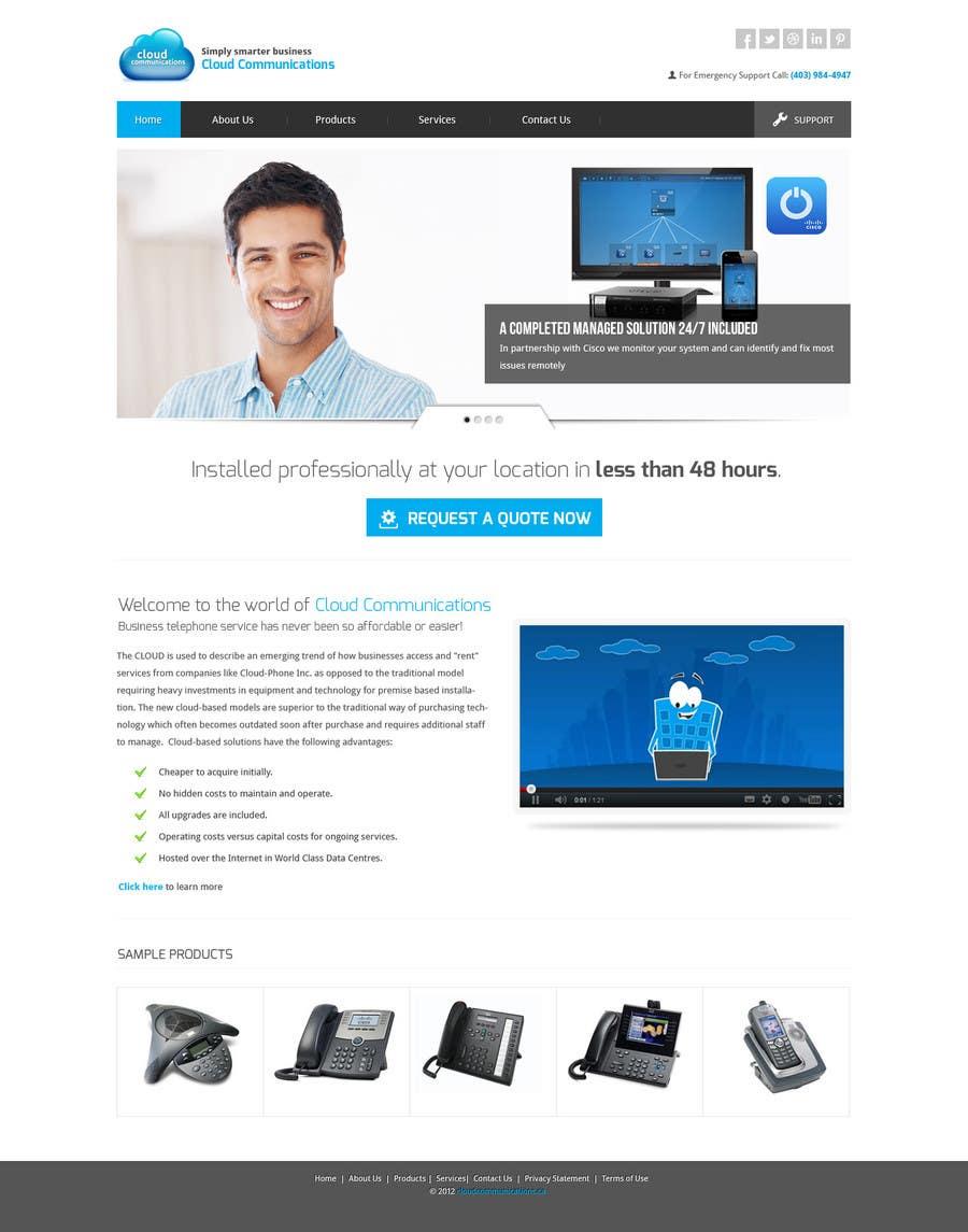 Kilpailutyö #79 kilpailussa Wordpress Theme Design for Cloud-Phone Inc.
