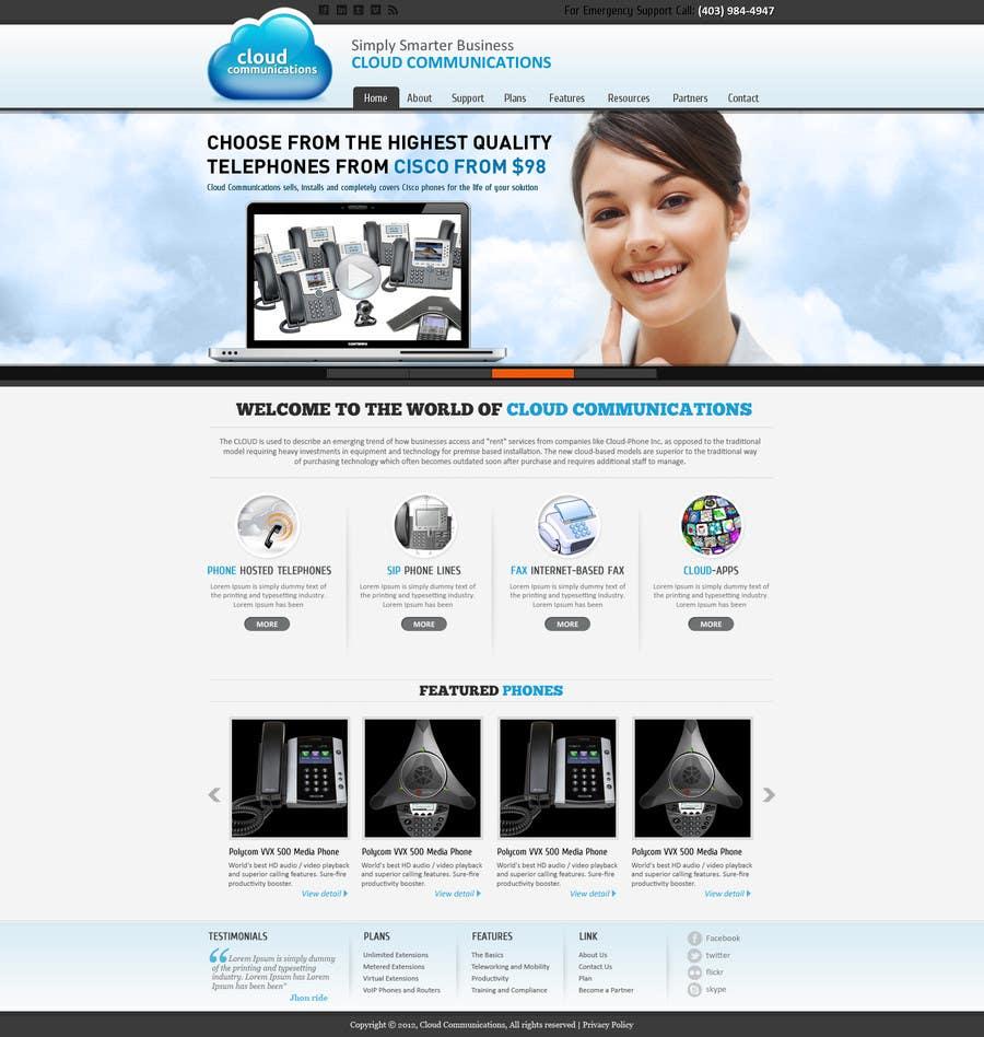 Kilpailutyö #38 kilpailussa Wordpress Theme Design for Cloud-Phone Inc.