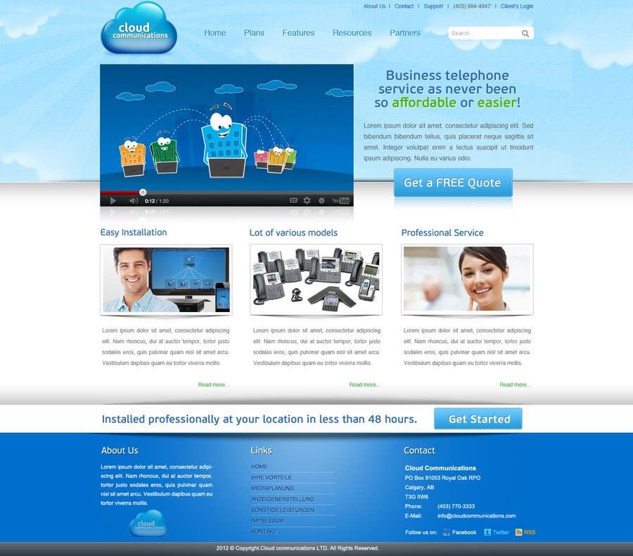 Конкурсная заявка №14 для Wordpress Theme Design for Cloud-Phone Inc.
