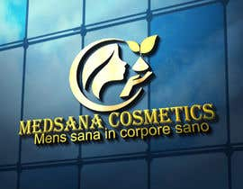 "#8 for logo for my business. Its about natural home-made cosmetics (cremes, soaps etc) witch are also terapeutical. The name is ""medsana cosmetics"". slogan is ""mens sana in corpore sano"" . Maybe a woman shape from the side holding something like a chamomile by GripichDesigner"
