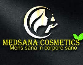 "#14 for logo for my business. Its about natural home-made cosmetics (cremes, soaps etc) witch are also terapeutical. The name is ""medsana cosmetics"". slogan is ""mens sana in corpore sano"" . Maybe a woman shape from the side holding something like a chamomile by GripichDesigner"