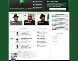 Nro 6 kilpailuun Design a Website Mockup for a Political candidate käyttäjältä pakfalcon
