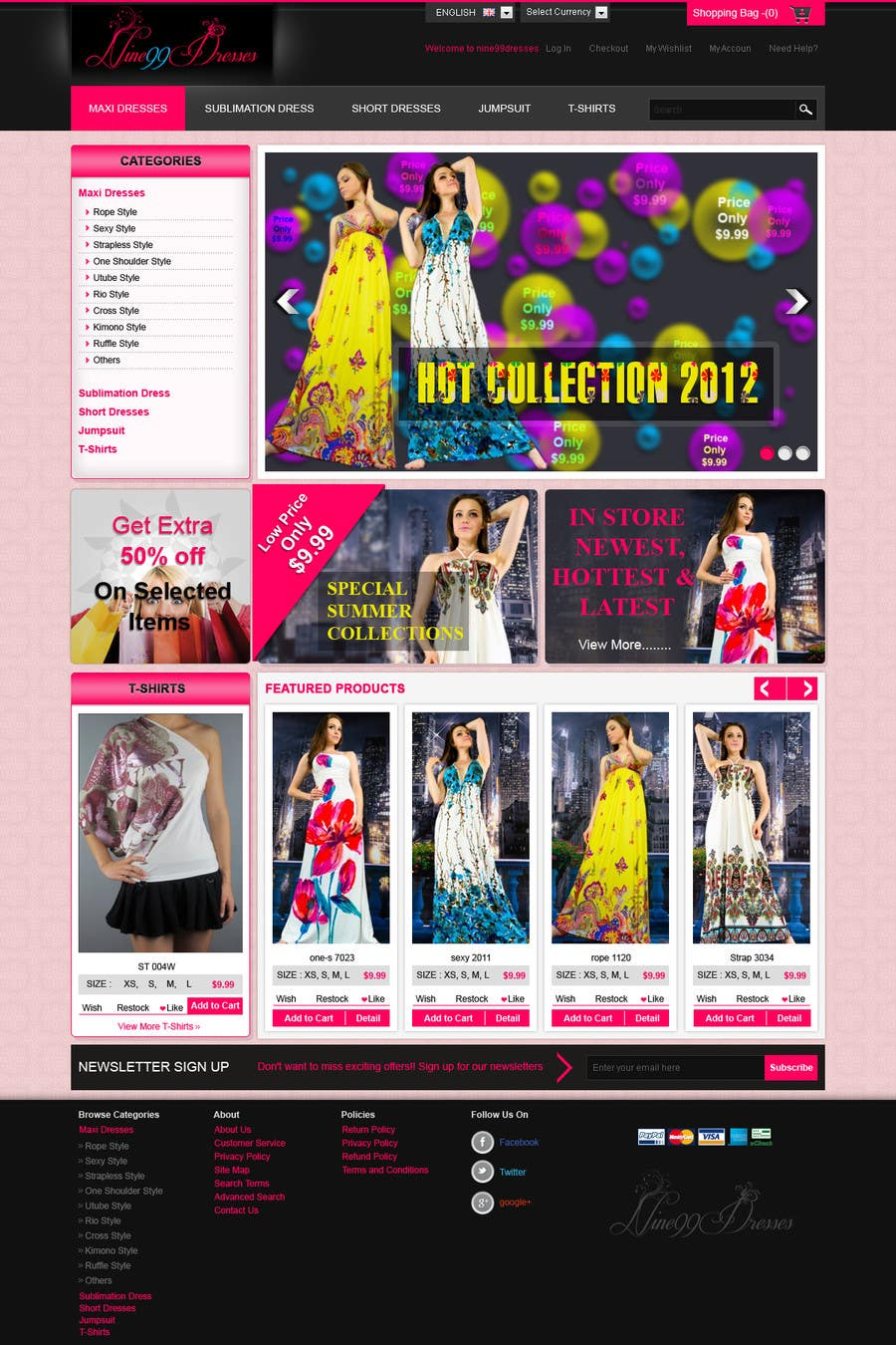 #32 for Website Design for Dresses Fashion Site by kosmografic