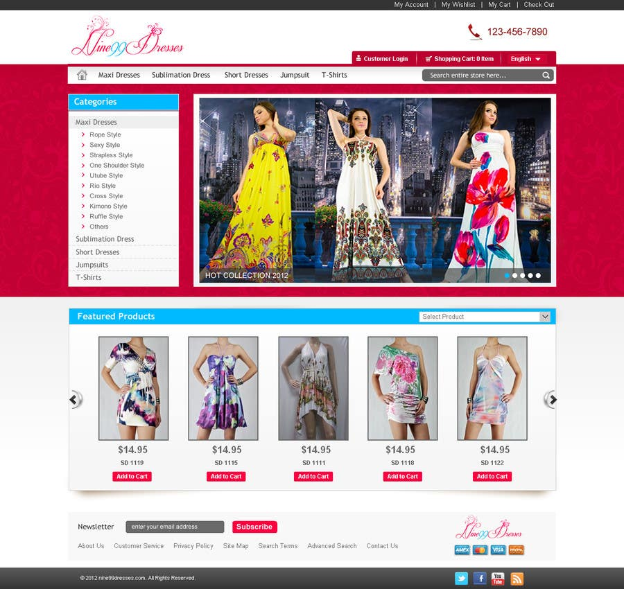 #34 for Website Design for Dresses Fashion Site by sanjay2004