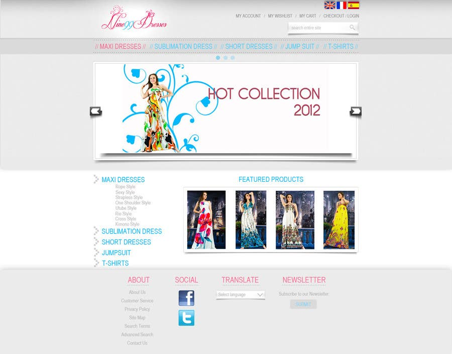 #45 for Website Design for Dresses Fashion Site by racul07