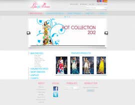 #45 untuk Website Design for Dresses Fashion Site oleh racul07