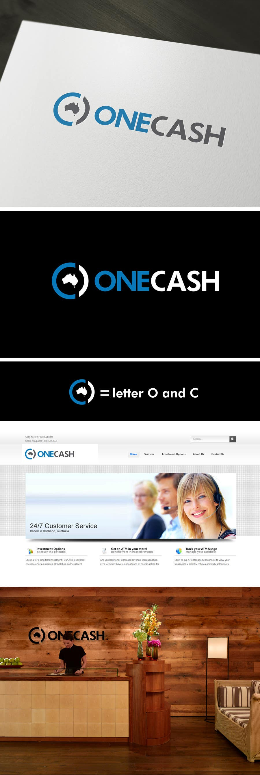 Contest Entry #16 for Logo Design for ONECASH LIMITED (ONE CASH)