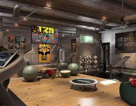 #26 for 3D-Modelling a hobby cellar gym for product promotion by salhazeema