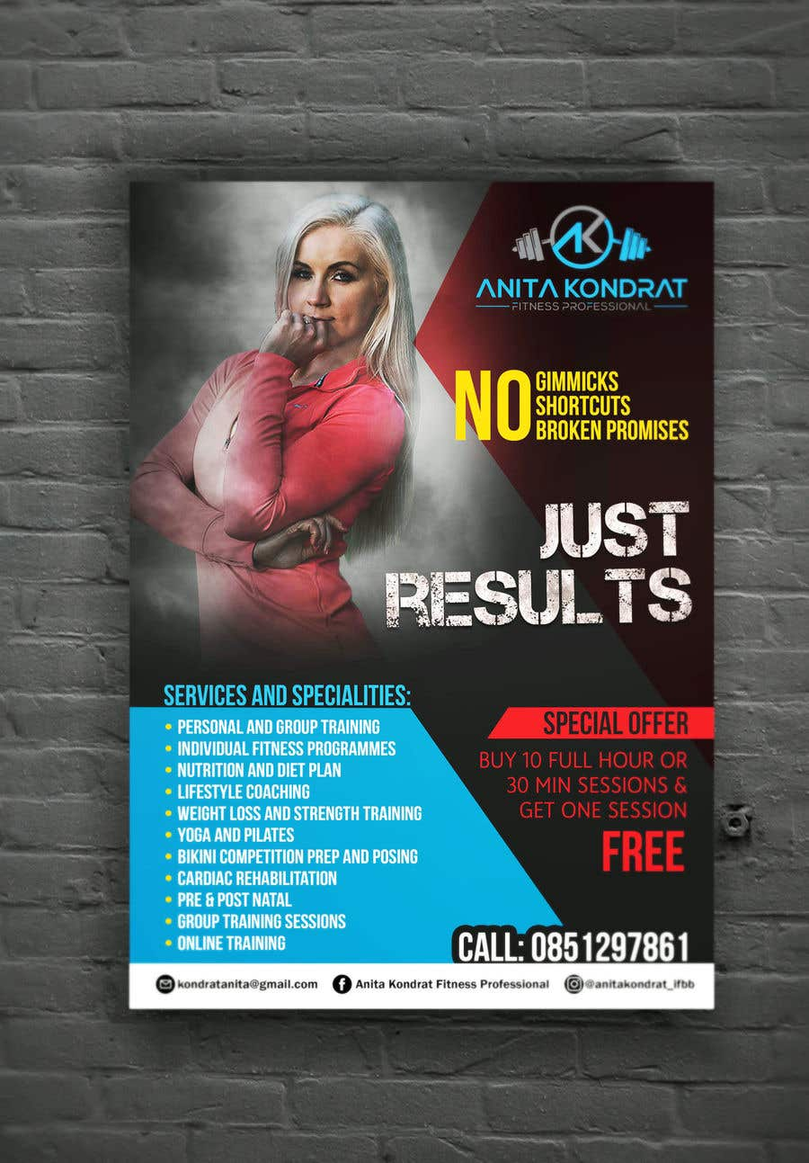 entry 49 by duraivenkat for design my personal training poster