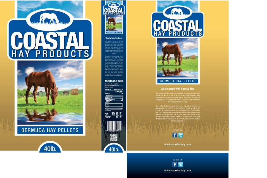 Конкурсная заявка №25 для Print & Packaging Design for Coastal Hay Products, Inc.