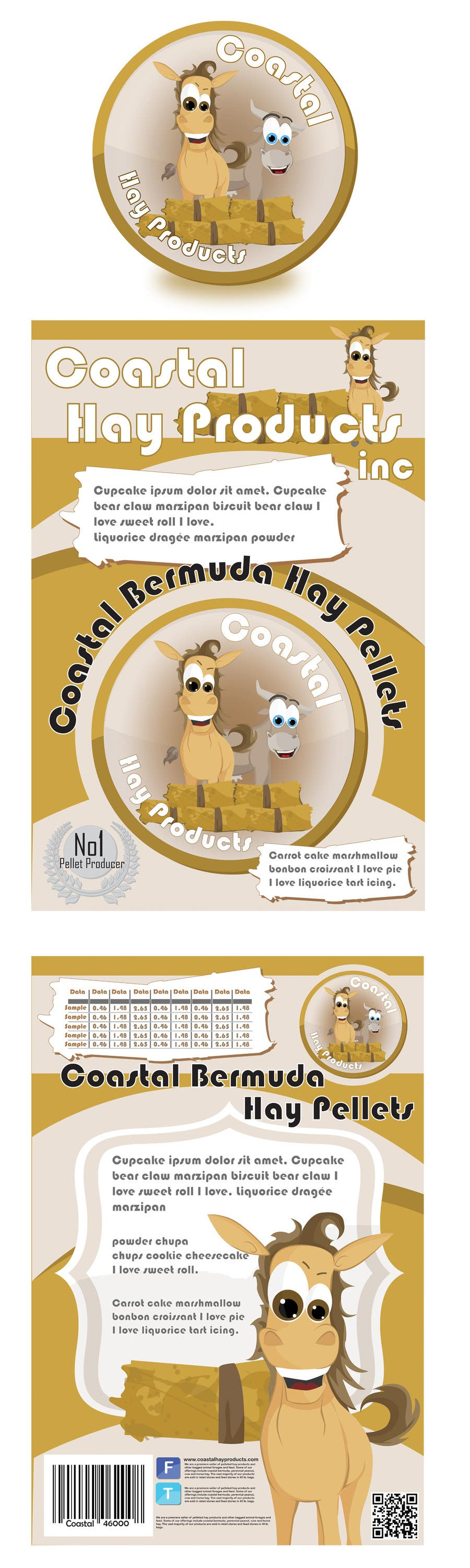 Inscrição nº                                         15                                      do Concurso para                                         Print & Packaging Design for Coastal Hay Products, Inc.