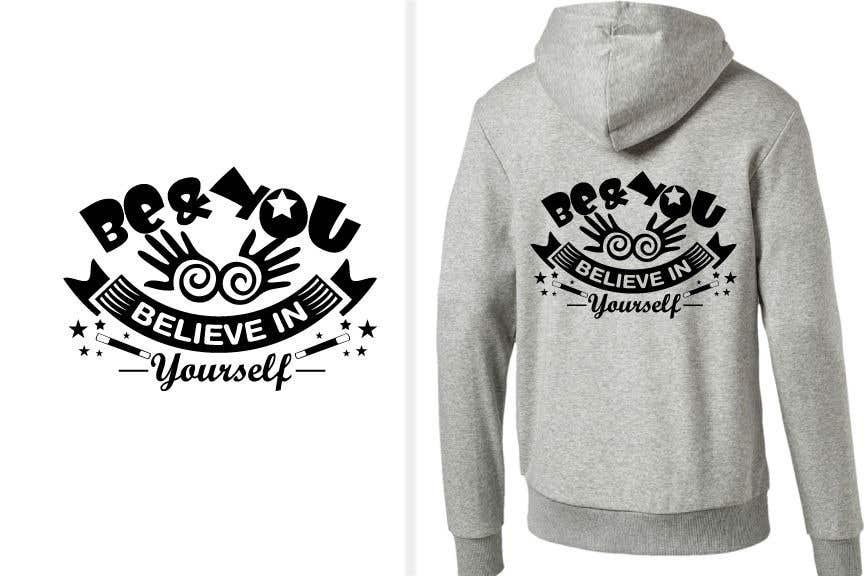 Penyertaan Peraduan #37 untuk Graphic design slogan for hoodie/jumper