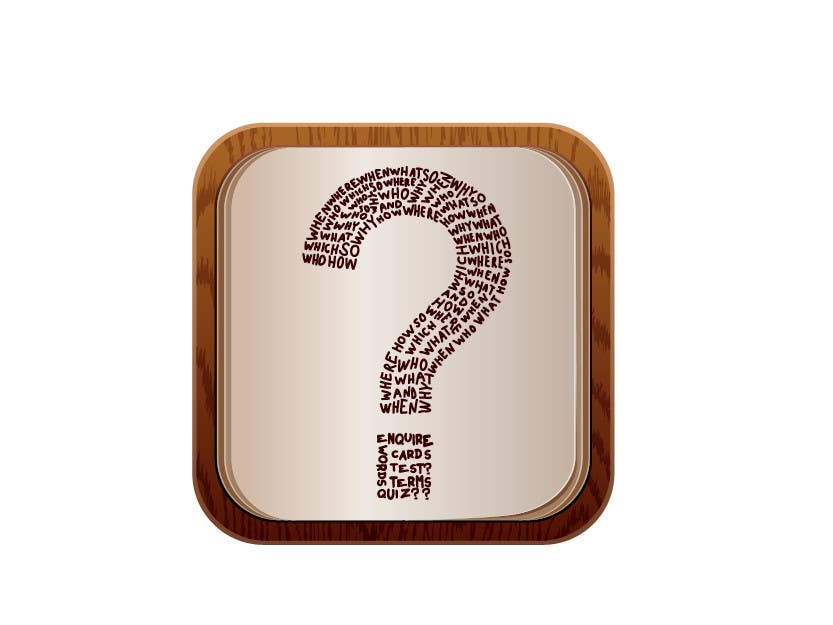 Inscrição nº                                         15                                      do Concurso para                                         icon for iOS app for iPhone and iPad about words and questions