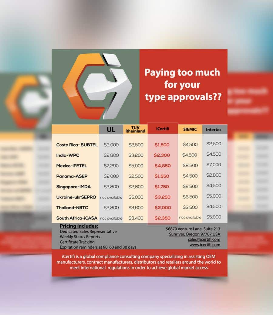 entry 2 by adeebfl for competitive pricing brochure freelancer