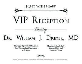 Nro 23 kilpailuun VIP reception Invitation käyttäjältä Moulogodesigner