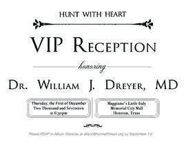 Nro 25 kilpailuun VIP reception Invitation käyttäjältä Moulogodesigner