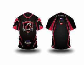 #6 for I am in search of a Game Jersey for my eSports Team.  The color would be black and red. The logo can be found in the website www.AgainstGaming.com  I need front and back. Shall be vectorized.  Thanks, Emilio Faria by AV1graphics