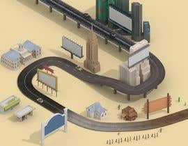 #13 for Road/Street Graphic Showing progress from Dirt road to Road of the future by fauzifau