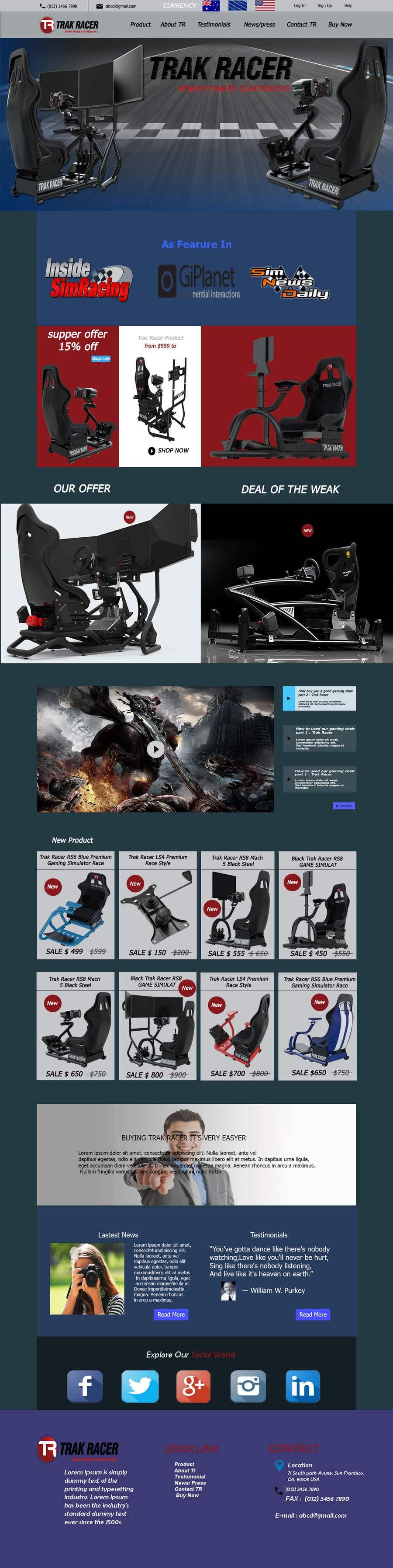Penyertaan Peraduan #24 untuk Design a home page including header and footer