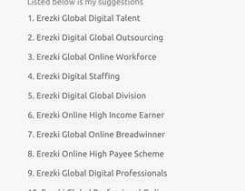 #3 untuk PERTANDINGAN MENCIPTA NAMA BARU UNTUK EREZEKI GLOBAL HIGH INCOME (EGHI) oleh dannyfreelancer