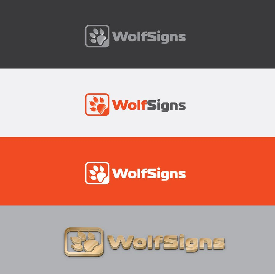 Bài tham dự cuộc thi #                                        154                                      cho                                         Logo Design for Wolf Signs