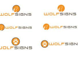 #294 para Logo Design for Wolf Signs por amandafifield