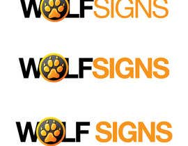#235 cho Logo Design for Wolf Signs bởi MOHR