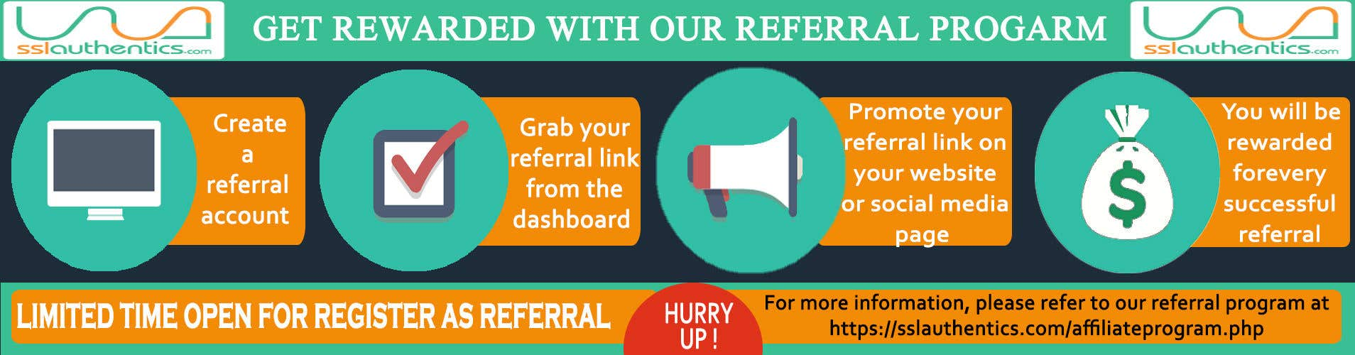 Entry #20 by awgouri31 for Design a referral program banner