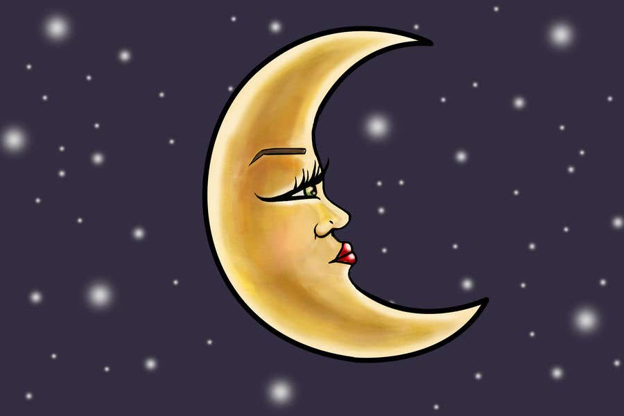 Contest Entry 42 For Moon Face Illustration