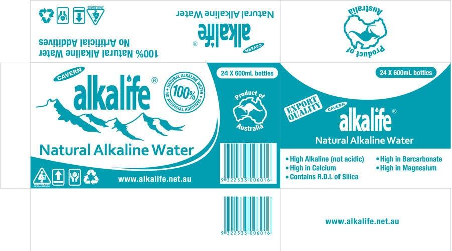 Penyertaan Peraduan #13 untuk Package Design for alkalife Natural Alkaline Water
