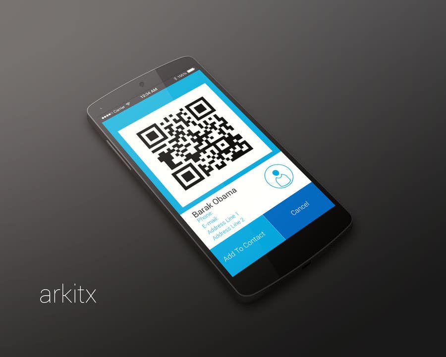 Entry #70 by arkitx for Design a Logo and UI for QR Reader App
