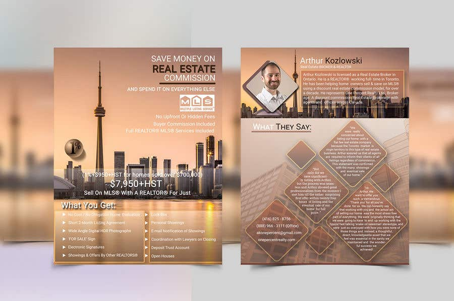 Entry #71 by DesignNart4141 for Design a Real Estate Flyer