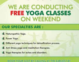 #26 for Design a Flyer _ for yoga institute by savitamane212