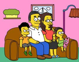 #6 for Simpsons Family Drawing - Family of 4 af wpurple