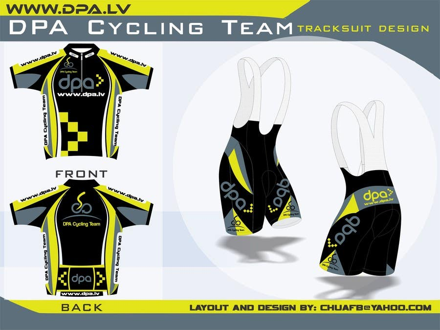 Entry 2 By Chuafb For Ideas For Tracksuit Design For Cycling Team Dpa Cycling Team Freelancer