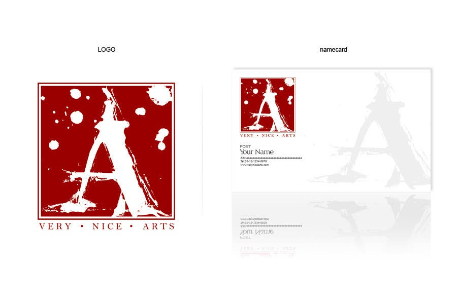 Participación en el concurso Nro.                                        426                                      para                                         Logo & Namecard Design for Very Nice Arts