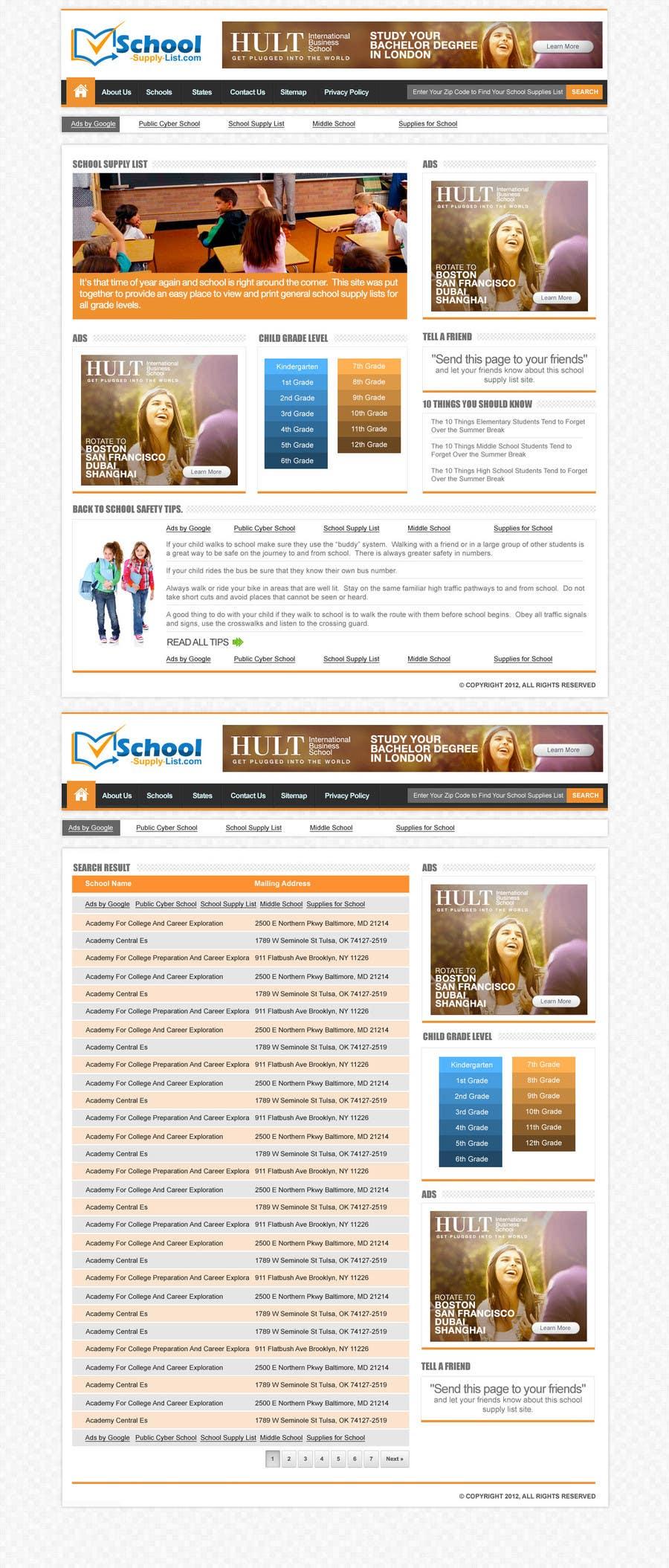 Bài tham dự cuộc thi #32 cho Website Design for School-Supply-List.com