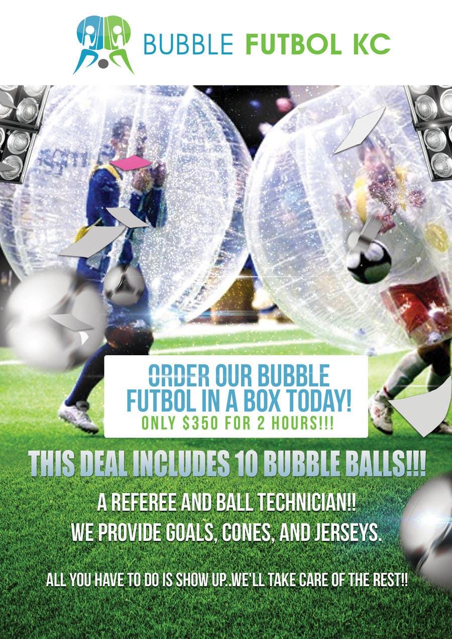 Bài tham dự cuộc thi #                                        1                                      cho                                         Design a Flyer for Bubble Futbol KC