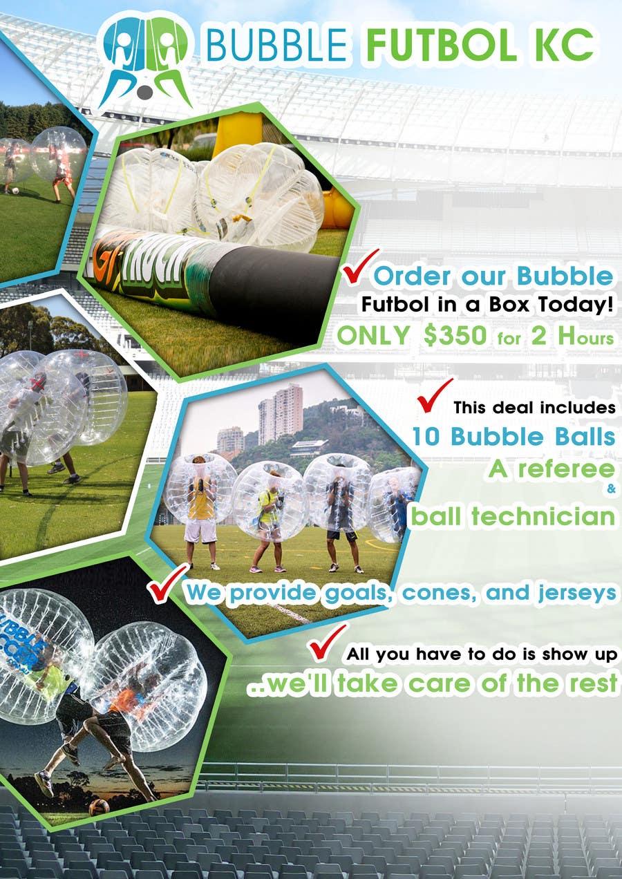 Bài tham dự cuộc thi #                                        4                                      cho                                         Design a Flyer for Bubble Futbol KC