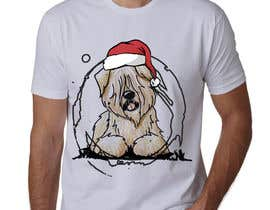 #36 for Christmas Tibetan Terrier portrait T-Shirt by sahac5555