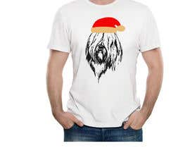 #54 for Christmas Tibetan Terrier portrait T-Shirt by Zikokamrul
