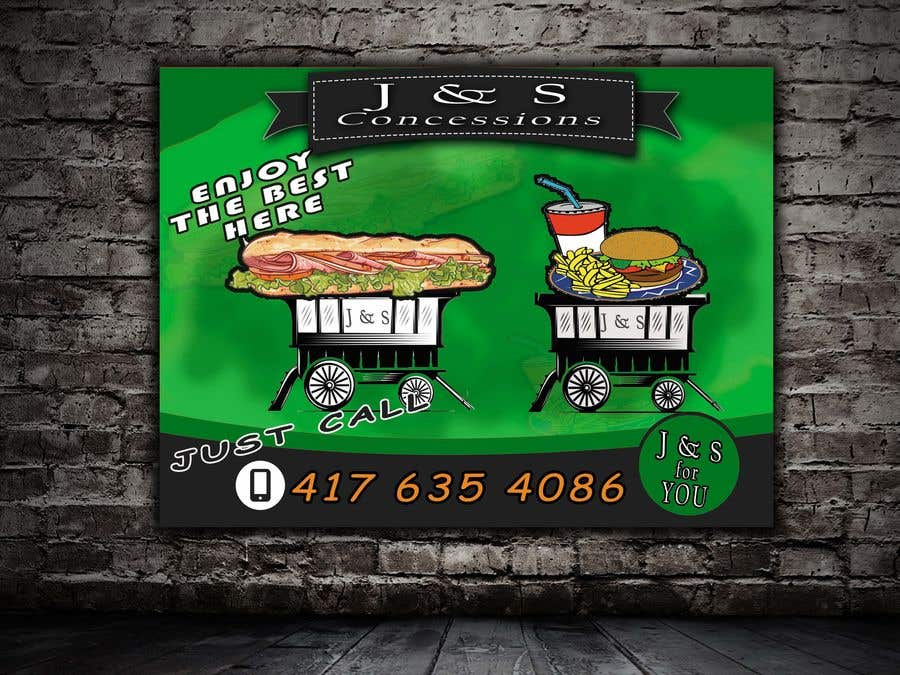 Entry #36 by Neloy3568 for Design a vinyl sign for a concession