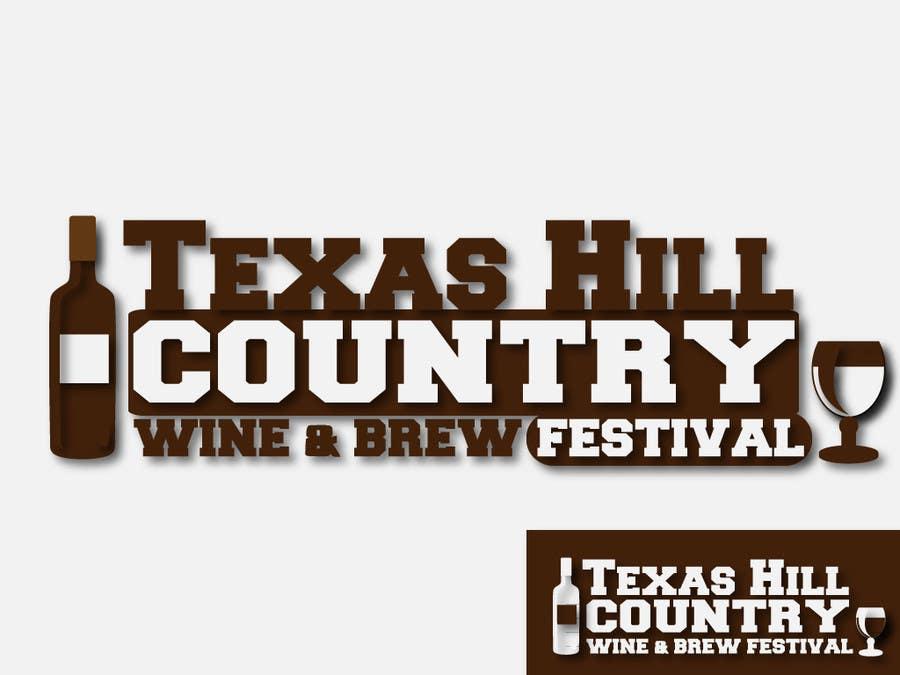 Penyertaan Peraduan #                                        78                                      untuk                                         Logo Design for Texas Hill Country Wine & Brew Fest