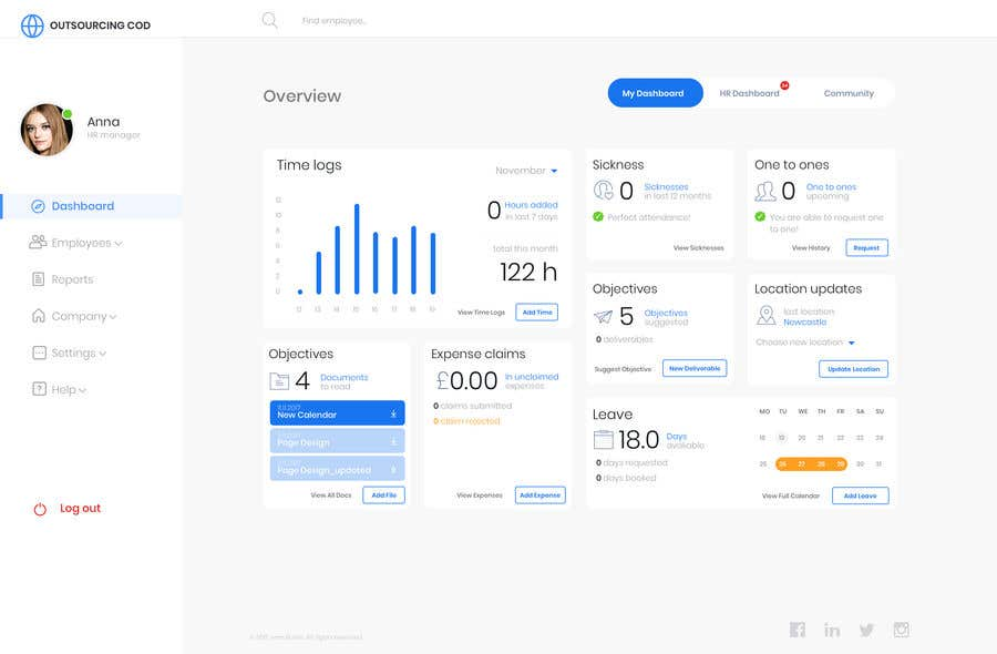 Entry #20 by ivanbunin73 for Redesign 2 pages of a dashboard for an